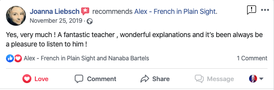 """Yes, very much ! A fantastic teacher , wonderful explanations and it's been always be a pleasure to listen to him !"" - Joanna Liebsch"